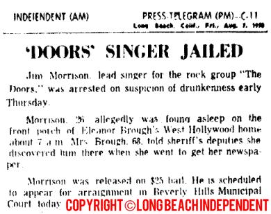 Rock Singer Jailed