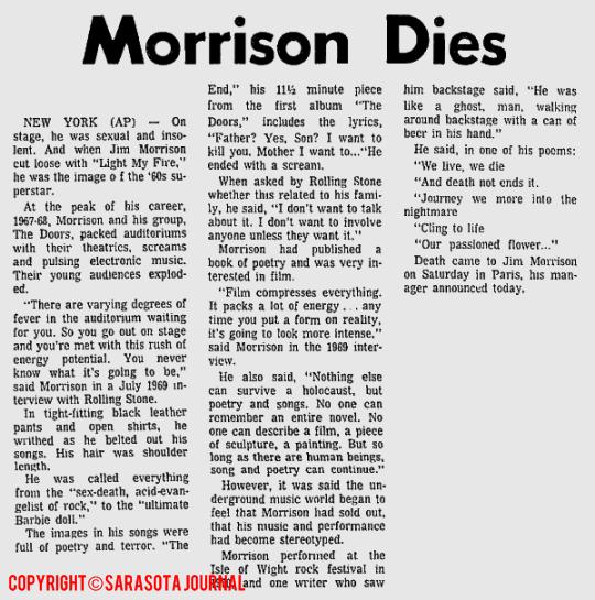 Morrison Dies