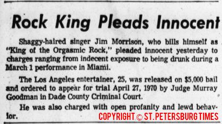 Rock King Pleads Innocent