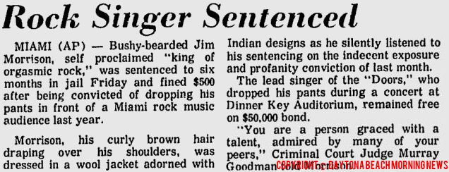 Rock Singer Sentenced