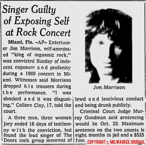 Singer Guilty Of Exposing Self