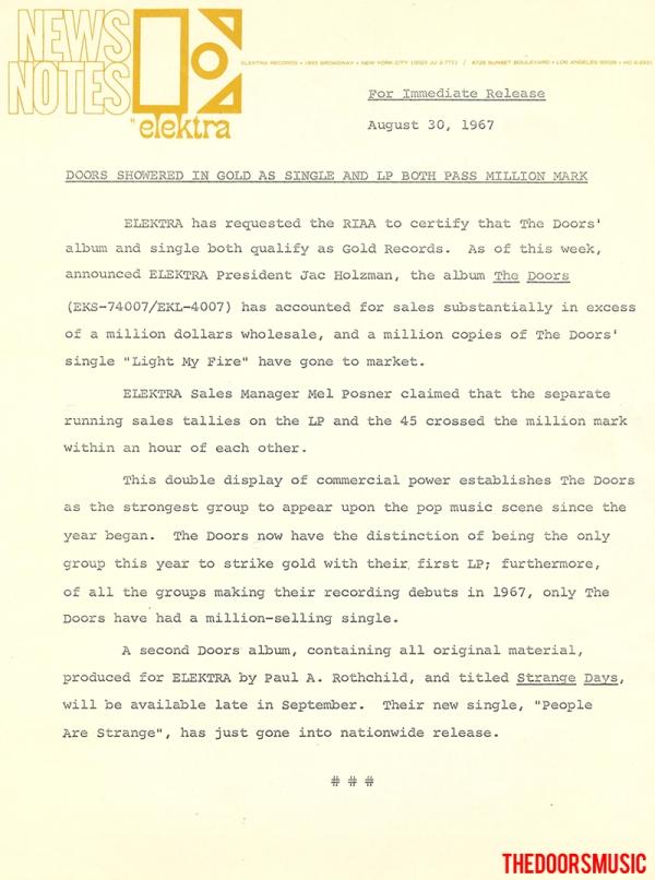 Elektra News - August 1967