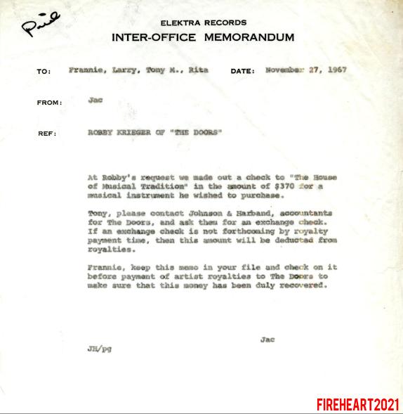 Office Memo - November 1967