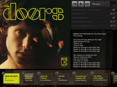 The Doors App for iPad