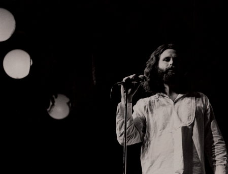 Jim Morrison performs with Canned Heat