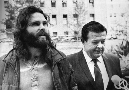 Jim Morrison and Max Fink Are Greeted By The Press