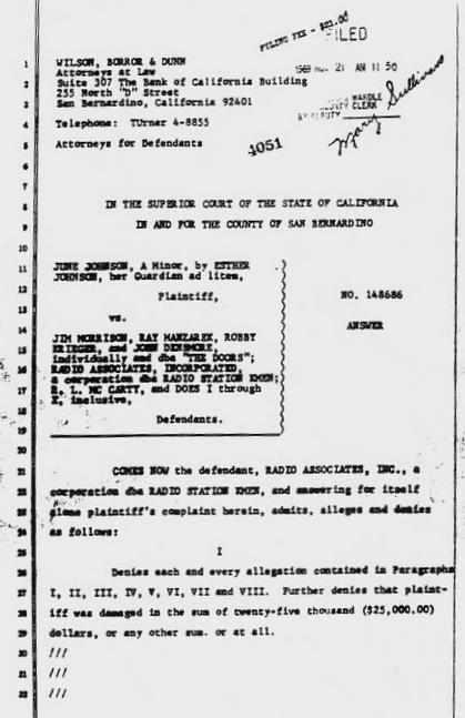 Kaiser Dome Lawsuit Documentation