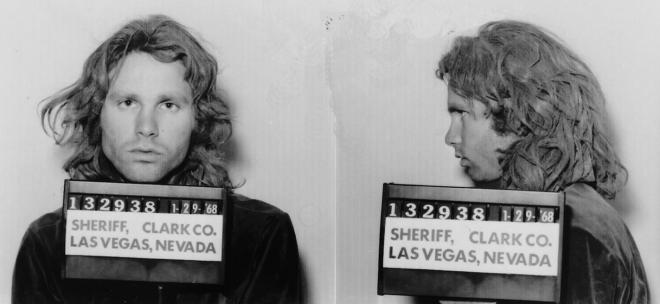 Jim Morrison Las Vegas Mugshot