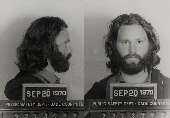Jim Morrison's Miami Mugshot