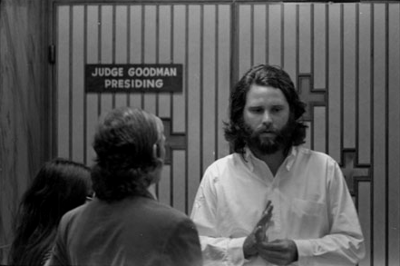 Jim Morrison During The Trial