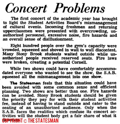 Concert Problems