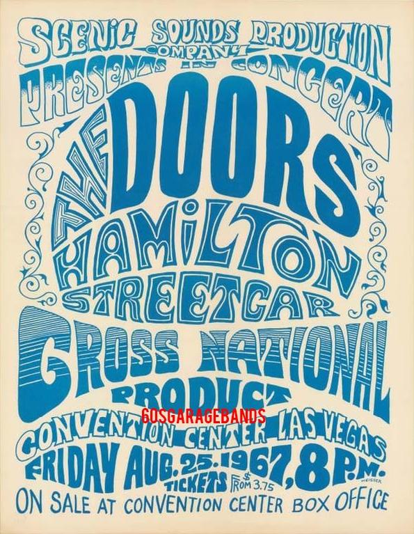 The Doors - Las Vegas Convention Center 1967 - Flyer