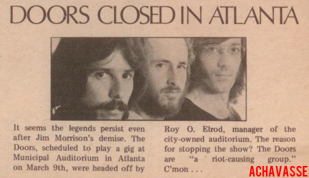 The Doors - Atlanta Municipal Auditorium - Article