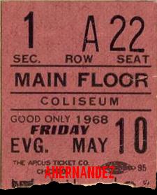 Chicago 1968 - Ticket