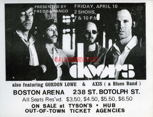 Boston Arena - Handbill  sc 1 st  MildEquator.com & The Doors | Boston Arena 1970