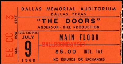 Dallas Memorial Auditorium - Ticket