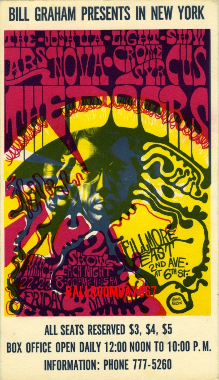 Fillmore East - Handbill