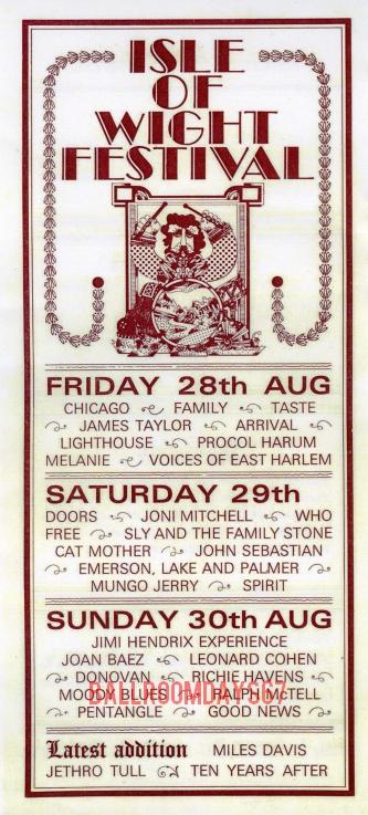 Isle of Wight Festival - Handbill