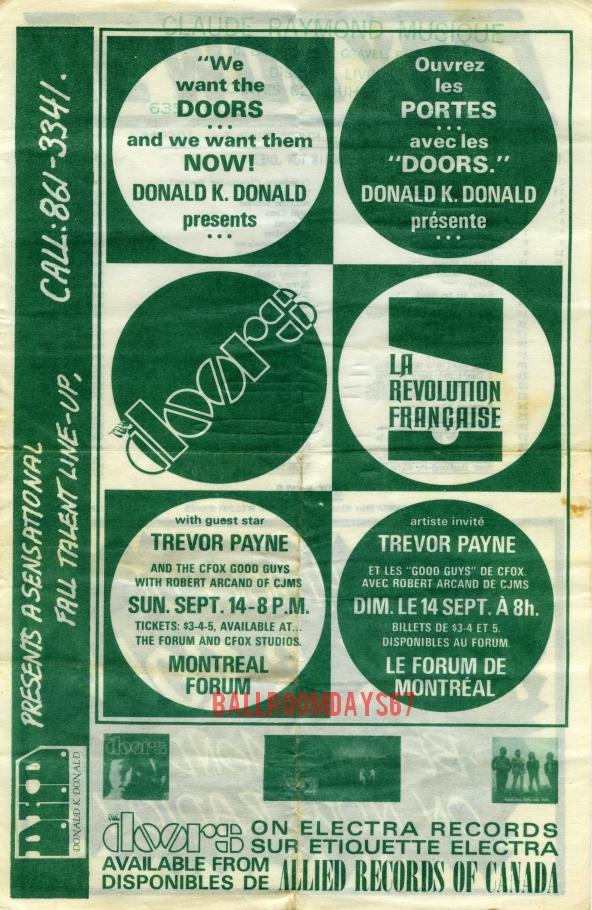 Montreal Forum - Handbill