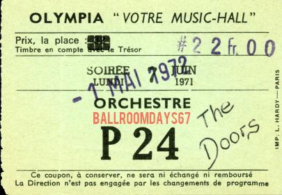 Paris Olympia - Ticket