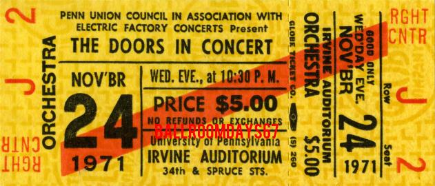 Irvine Auditorium - Ticket