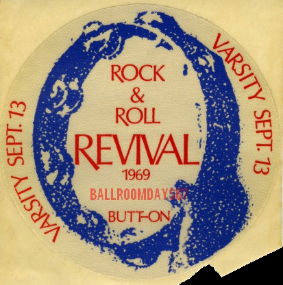 The Doors - Toronto Rock n' Roll Revival - Promotional Button