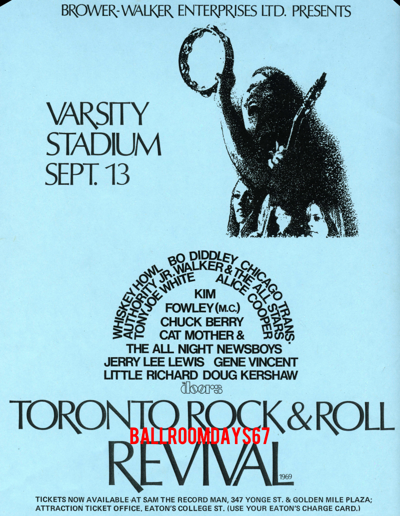 The Doors - Toronto Rock n' Roll Revival - Handbill