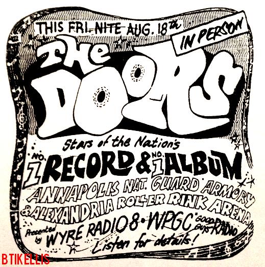 The Doors - Alexandria Roller Rink Arena 1967 - Print Ad
