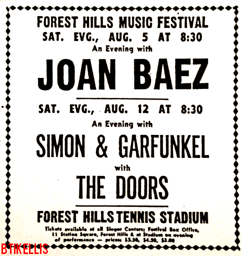 The Doors - Forest Hills Tennis Stadium 1967 - Print Ad