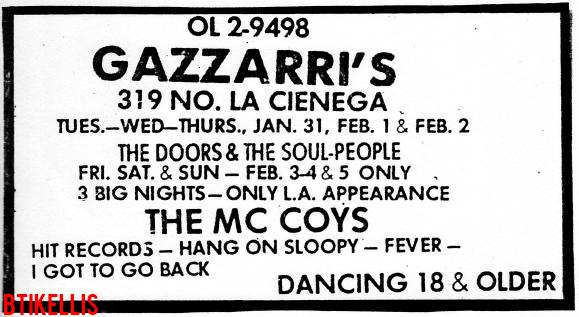 Gazzarri's - Print Ad