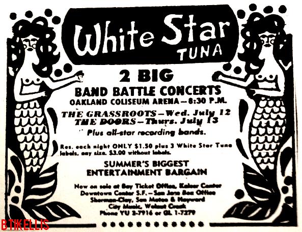 The Doors - Oakland Civic Auditorium 1967 - Print Ad