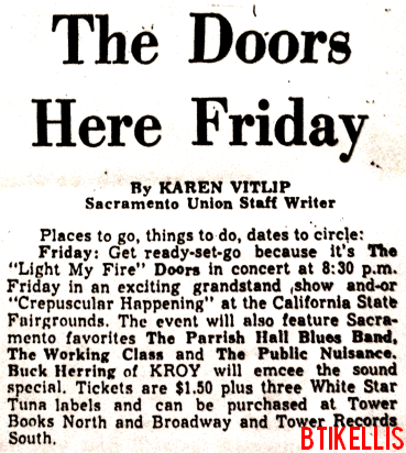 The Doors - State Fair Grandstand 1967 - Article