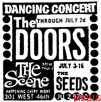 The Doors - Steve Paul's The Scene 1967 - Print Ad