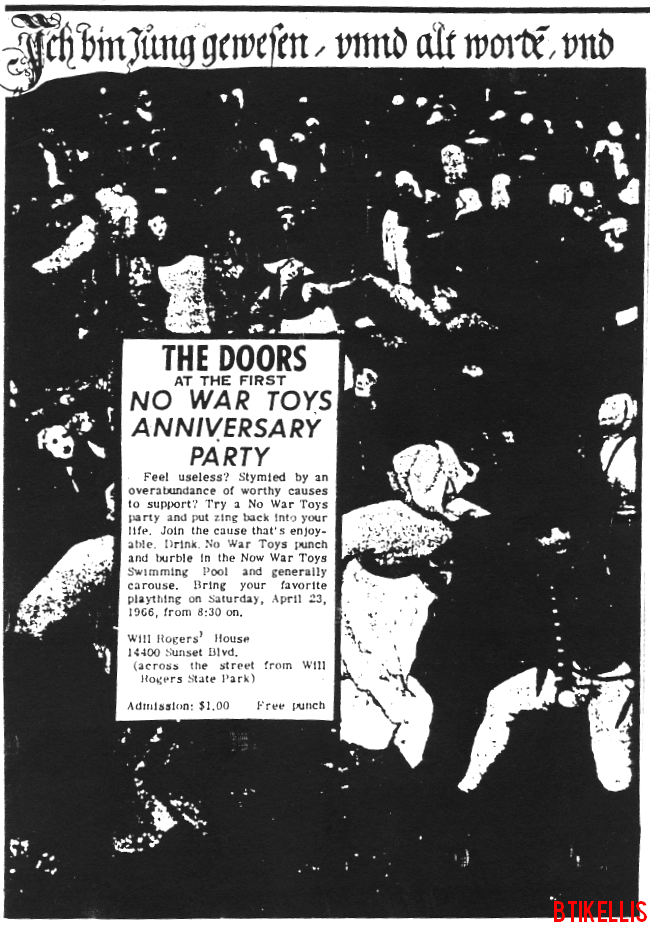 The Doors - Will Rogers State Park 1966 - Print Ad