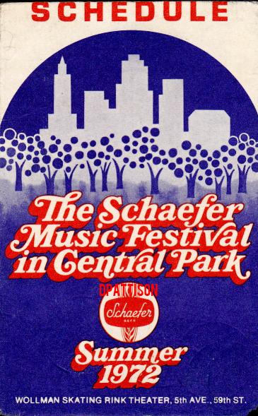 Schaefer Music Festival - Schedule