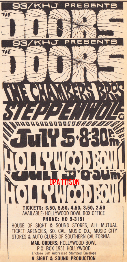 The Doors - Hollywood Bowl - Print Ad
