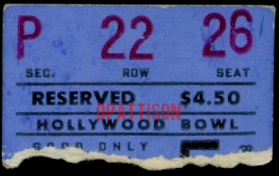 Hollywood Bowl - Ticket