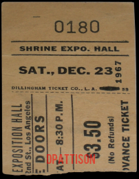 Shrine Exposition Hall Ticket Stub