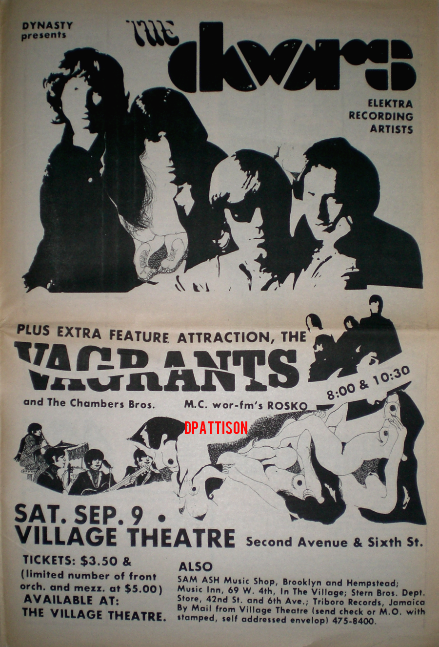 The Doors - Village Theater - Poster Ad