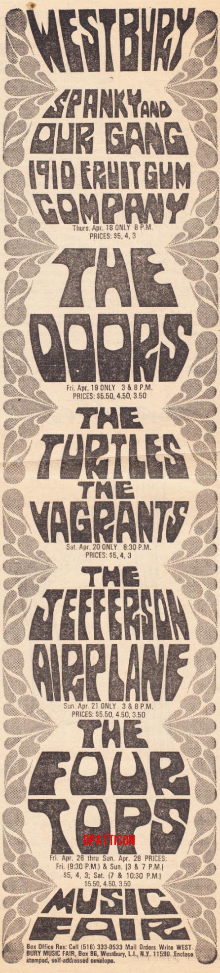 The Doors - Westbury Music Fair - Print Ad
