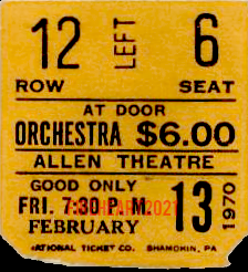 Allen Theatre - Ticket