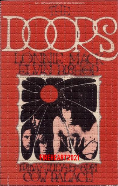 The Doors - Cow Palace 1969 - LSD Handbill