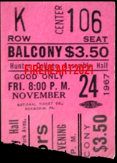 Hunter College Ticket Stub