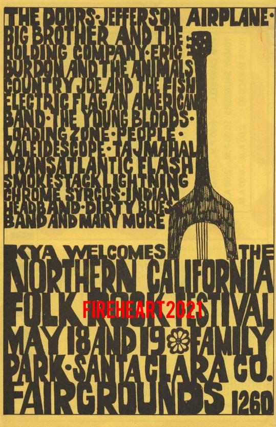 Northern California Folk Rock Festival - Handbill