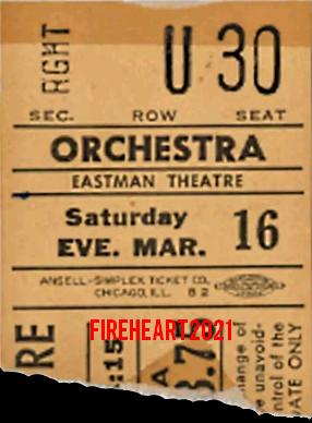 Rochester 1968 - Ticket