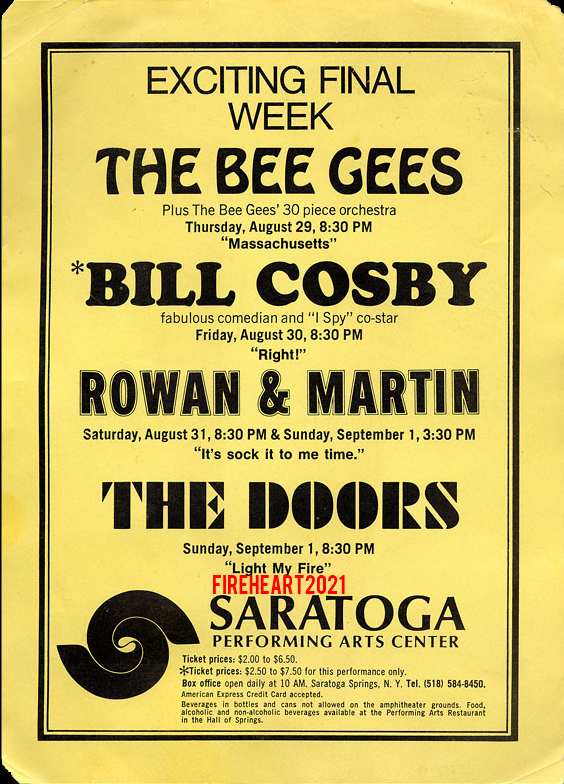Saratoga Performing Arts Center - Handbill