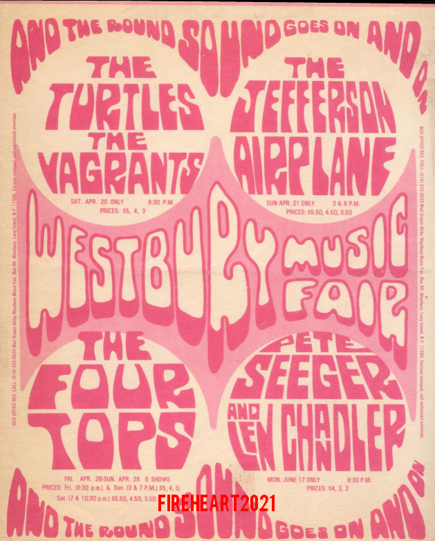 The Doors - Westbury Music Fair - Handbill