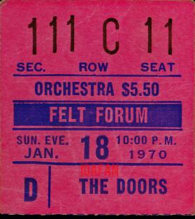 Felt Forum - Ticket