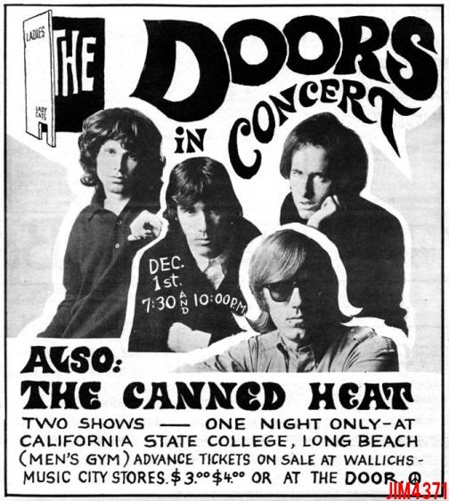 Cal State - Print Ad  sc 1 st  MildEquator.com & The Doors | Long Beach - Cal. State 1967 pezcame.com