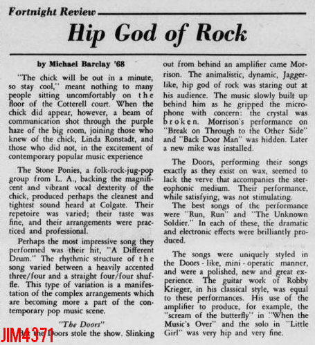 Colgate University 1968 - Review